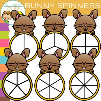 Bunny Spinners Clip Art