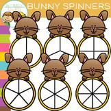 Bunny Spinners Clip Art
