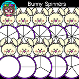 Bunny Spinners Clipart {Scrappin Doodles Clipart}