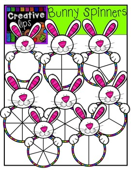 Bunny Spinners {Creative Clips Digital Clipart}