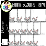 Bunny Square Frames ● Clip Art ● Products for TpT Sellers