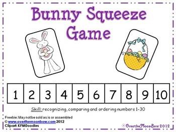 Bunny Squeeze Number Game