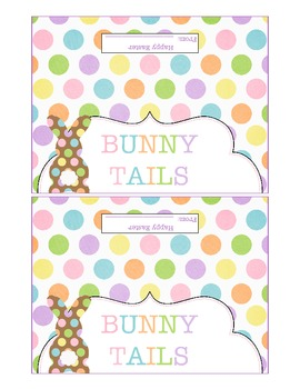 Bunny Tails Baggie Topper