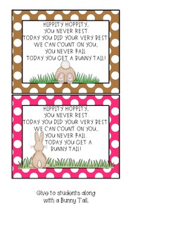 Bunny Tails Rewards for Students