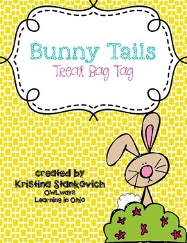 Bunny Tails Treat Tag for Easter