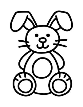 Bunny Template Bunny Coloring Page Bunny Outline Bunny Bulletin Board