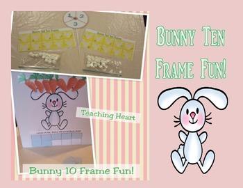 Bunny Ten Frame Fun (Game, Display, and Worksheet) FREE!