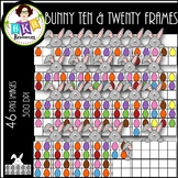 Bunny Ten & Twenty Frames ● Clip Art ● Products for TpT Sellers