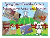 Bunny Themed Math and Reading Extensions, Pocket Chart Pieces, Games, and More