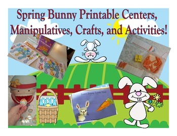 Bunny Themed Math and Reading Extensions, Pocket Chart Pie
