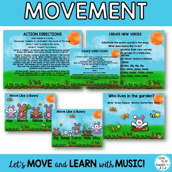 "Bunny Themed Music and Movement Lesson ""Funny Little Bunny"" Video & Mp3 Tracks"