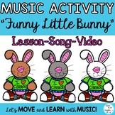 """Music and Movement Lesson: """"Funny Little Bunny"""" Rhythms, Video & Mp3 Tracks"""
