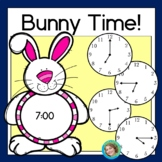 Bunny Time: Telling time to the hour, half hour and quarter hour