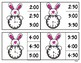 Bunny Time - Telling Time Clip Cards - Hour/Half Hour