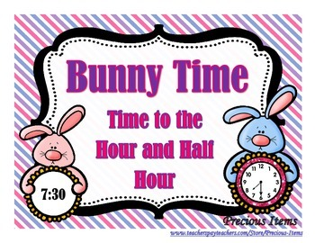Bunny Time:  Time to the Hour and Half Hour