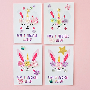 Bunny Unicorn Easter Cards