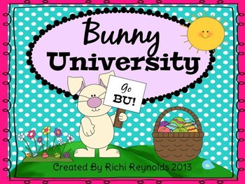 Bunny University: Easter Thematic Math and Literacy Unit