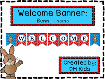 Bunny Welcome Banner