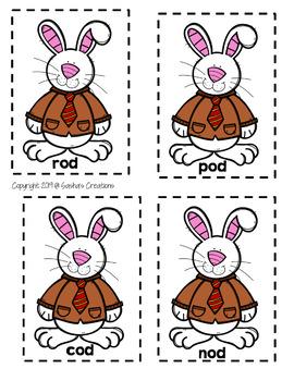 Bunny Word Families Rhyming Words