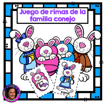 Bunny Word Families Rhyming Words in Spanish