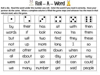 Bunny Word Imposters and Roll-A-Word Activities
