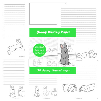 Bunny Writing Paper