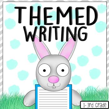 Bunny Writing Spring Rabbit Easter Display