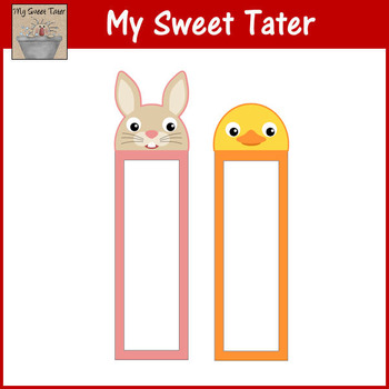 Bunny and Chick Bookmarks