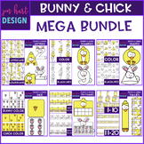 Easter Clip Art - Bunny and Chick Mega BUNDLE {jen hart Clip Art}
