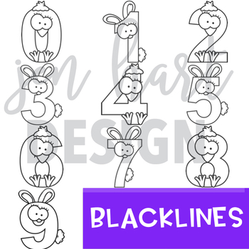 Easter Clip Art - Bunny and Chick Numbers {jen hart Clip Art}