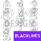 Bunny and Chick Clip Art  Numbers 0-9 {jen hart Clip Art}
