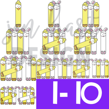 Easter Clip Art - Bunny and Chick Tally Marks {jen hart Clip Art}
