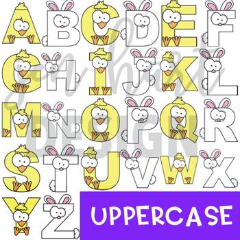 Alphabet Letters Clip Art - Bunny and Chick Easter Letters {jen hart Clip Art)