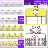 Easter Clip Art - Bunny and Chick Ten Frames {jen hart Clip Art}