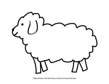Bunny and Sheep Coloring Pages