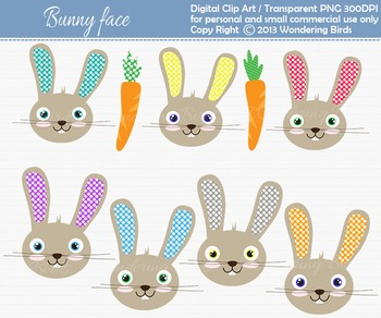 Bunny  clip art - set of 9 clip arts