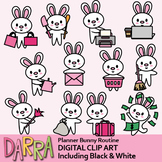 Bunny clipart / Planner chore clip art