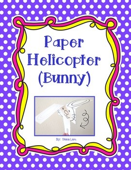 """Bunny-copter"" - Easter Fun Paper Helicopter Activity"