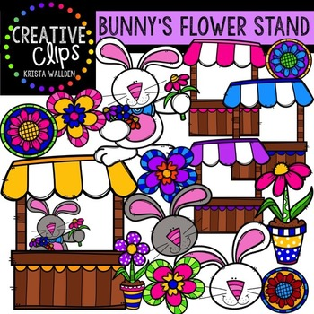 Bunny's Flower Stand {Creative Clips Digital Clipart}