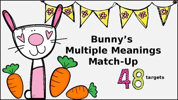 Bunny's Multiple Meanings Match-Up: 48 targets