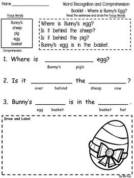 Bunny's Egg Emergent Reader with Activities