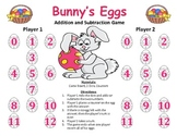 Bunny's Eggs - An Easter Addition and Subtraction Game