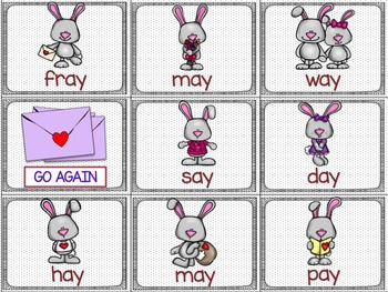 Valentine's Day Silent E and Vowel Team Game