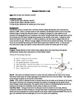 Bunsen Burner Lab