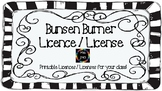 Bunsen Burner Licence / License