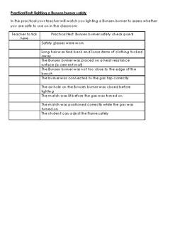 Bunsen Burner License Test
