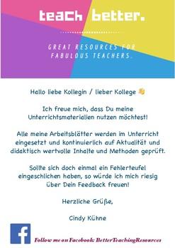 Bunt sind schon die Wälder - German folk song +worksheets, crossword ...