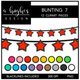 Buntings Clipart Set: 7 {A Hughes Design}