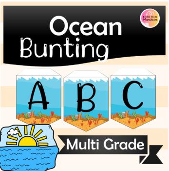 Bunting Alphabet Ocean