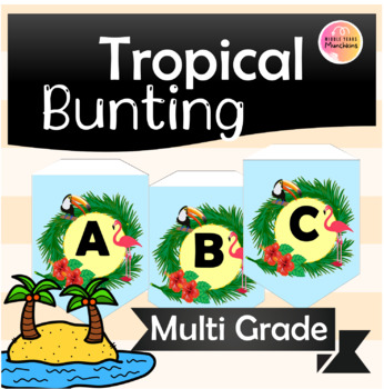 Bunting Alphabet Tropical